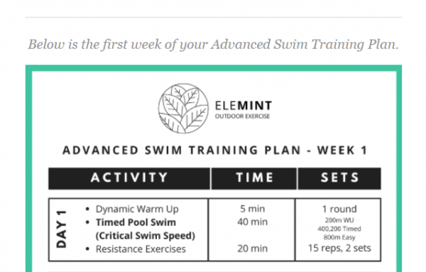 Robben Island Swim Training Plan Preview 2
